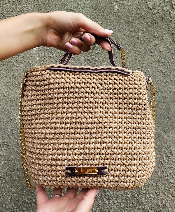 Bag with leather